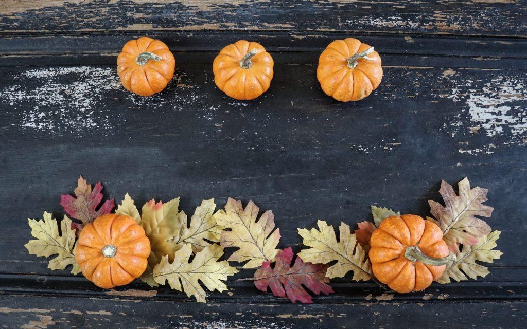 Осенние украшения стола